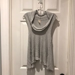 We the Free swing it cowl neck waffle top SZ XS